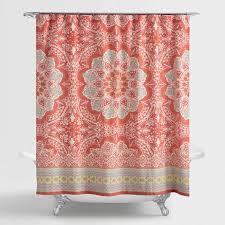 Coral Medallion Lucia Shower Curtain
