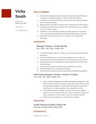 Massage Therapist Resume Summary Examples For Template