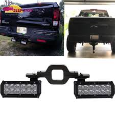Tow Hitch Mounting Bracket W/ Dual LED Light Bar Reverse Truck Light ...
