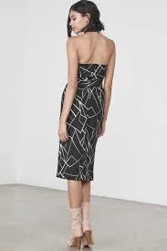 alice black and white chinese cheongsam halterneck dress