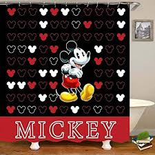 aliyz mickey mouse home hotel badezimmer dekoration wasserdicht mehltaue umweltfreundliche pflege duschvorhang vorhang polyestergewebe 71x71 zoll