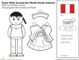 Paper Dolls Around The World Latin America II