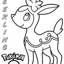 Free Coloring Pages Of Deerling From Pokemon Special