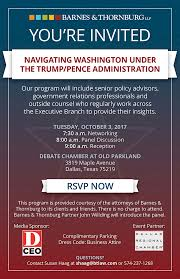 Navigating Washington Under The Trump/Pence Administration | News ... Barnes Thornburg Llp Our Los Angeles Office Youtube Home Internet And Technology Law Group Celebratediversity2017 Hashtag On Twitter Atlanta Employment Agreement Ciderations Asa Monitor Publications South Bend Creative Roots We Have A Full Schedule Of Design Collaborative Archinect Currents Thornburgs Legal Blog