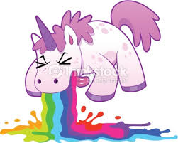 Unicorn Puking Rainbow Vector Art