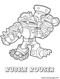 Skylanders Swap Force Rubble Rouser Coloring Pages Print Download 231 Prints