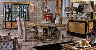 8 stühle set esszimmer e61 designer holz stuhl garnitur antik stil barock rokoko