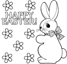 Girl Easter Bunny Coloring Pages 03