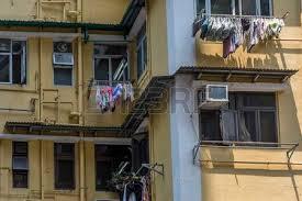 Detail Of Run Down Apartment Buildings In Hong Kong Photo