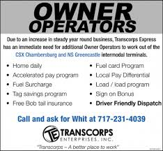 Owner Operators, Transcorps Enterprises, Inc, Chambersburg, PA Owner Operator Job Description Trisamoorddinerco Dump Truck Material Hauling V Mcgee Trucking Memphis Tn Rock Sand Ram Also Liners For Sale Together With Quad Axle Plus Insurance Michigan About Us Shaw Inc National Truckers Blog Ownoperator Agreement Industry In The United States Wikipedia Untitled Peninsula General Owner Operators Transcorps Enterprises Chambersburg Pa Eilen Sons Hampton Mn Dry Bulk Liquid Transport