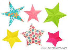 Folding Paper Stars Craft