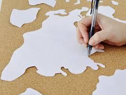 diy wall make a custom corkboard world map hgtv