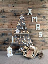 Vintage Pallet Christmas Tree With Shelves
