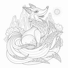 Coloriage Anti Stress Animaux Luxe Coloriage Renard Renard