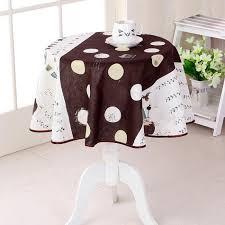 marron imprimé nappe ronde de table anti tache en pour salle à