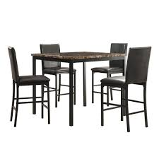 5 Piece Counter Height Dining Room Sets by Homesullivan Bedford 5 Piece Black Bar Table Set 402601 365pc