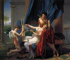Sappho And Phaon 1809 By Jacques Louis David