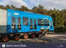 100 Truck Transporters Loaded Berlin Germany Truck Transporters With A Polish Tram Stock