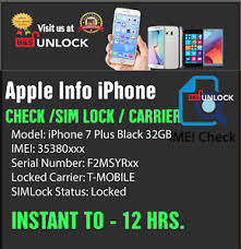 Check iPhone Models IMEI Carrier SIM Unlock Status Check