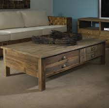 Foxy Rustic Living Room Furnishing With Reclaimed Wood Coffee Tables Enchanting Image Of