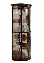 Amazon Coaster Curio Cabinet by Amazon Com Pulaski Half Round Curio 32 By 17 By 76 Inch Dark