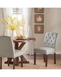 Madison Park Misha Tufted Dining Chair Set Of 2 4 Color Option