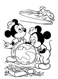Minnie Blows Up A Balloon Disney World Coloring Pages