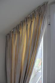 Smocked Burlap Curtains By Jum Jum by Bedroom Curtains A Customers Sloping Window Double Pinch Pleat