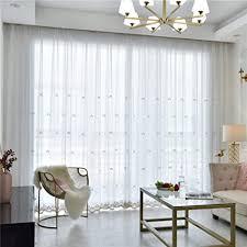 csheng gardinen gardinen weiss sheer vorhänge für windows