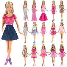 Buy BARWA 5pcs Fashion Mini Dress For Barbie Doll Handmade Short
