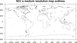 Mapoutlines 5ncl This Script Demonstrates The Difference In Resolution Between Low And Medium Map Databases Of NCL