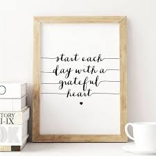 Start Each Day Inspirational Typography Print