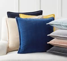 Pottery Barn Decorative Pillow Inserts by Washed Velvet Pillow Cover Pottery Barn