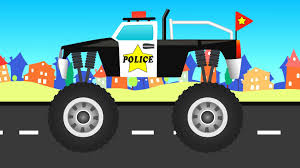 100 Monster Truck Kids Police Vehicles YouTube