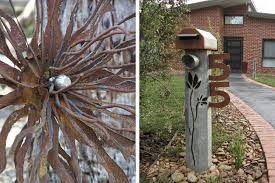 Recycled Metal Letterbox And Garden Art Tread Sculptures Kangaroo Ground Victoria