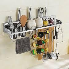 support mural cuisine multi fonction en acier inoxydable rack support mural cuisine