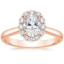 14K Rose Gold Lotus Flower Diamond Ring from Brilliant Earth