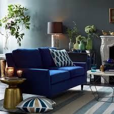 west elm everett upholstered sofa ink blue performance ve