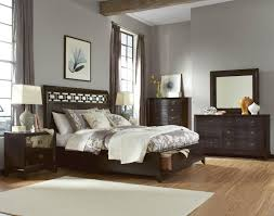 bedroom furnishing with mirror nightstand as vanity and