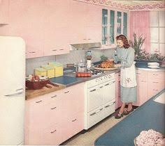 Pink Retro Kitchen Home Design Ideas and