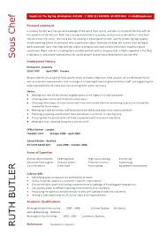 Personal Summary Resume Sample Chef Objectives Examples