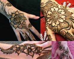 2017 Top 50 SIMPLE MEHNDI DESIGNS FOR HANDS IN DIFFERENT STYLES