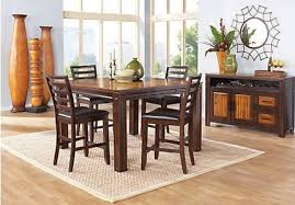 Adelson Chocolate 5 Pc Counter Height Dining Room