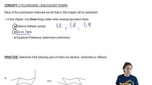 Chair Conformation Of Cyclohexane by Cyclohexane Equivalent Chairs Organic Chemistry Clutch Prep