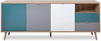 newfurn kommode sonoma eiche sideboard modern 180x71x40 cm bxhxt highboard anrichte skandinavisches design jona seven wohnzimmer