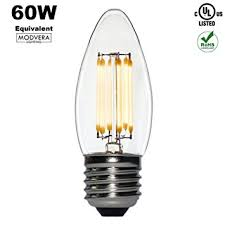 modvera 60w equal led chandelier bulb blunt tip 5 watt warm white