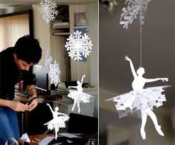 Paper Snowflake Ballerina Ballerinas Are Very Beautiful For Decorating Your Room