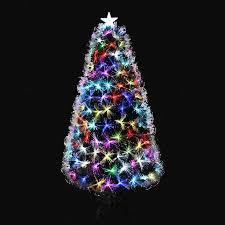 Traditional Multicolor Fiber Optic Christmas Tree 5ft 150cm With Metal Stand