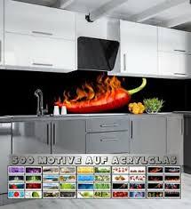 details zu küchenrückwand acrylglas 1000 motive spritzschutz fliesenspiegel küche herd