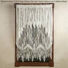 White Eyelet Kitchen Curtains by White Swag Curtains White Lace Swag Curtains Wisteria Arbor Lace